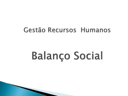 Gestão Recursos Humanos Balanço Social