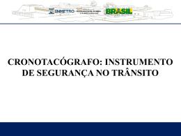 Apresentação Cronotacógrafos - dia 18.06.2013