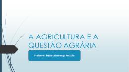 A AGRICULTURA E A QUESTÃO AGRÁRIA