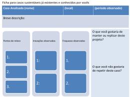 Documentos aqui: Quadros para avaliação