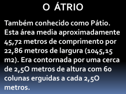 11 – Átrio - Pr. Wilian Gomes