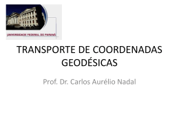 TRANSPORTE DE COORDENADAS GEODÉSICAS