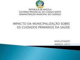 Descarregue a publicação - República de Angola :: Ministério da