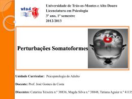 Perturbações Somatoformes.