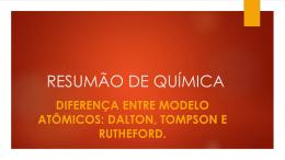 RESUMÃO DE QUÍMICA