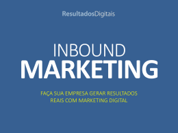 INBOUND MARKETING - Amazon Web Services