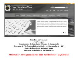 """""""Suporte Institucional""""- Portal da Escrita Científica"""