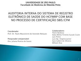 AUDITORIA INTERNA DO SISTEMA DE REGISTRO ELETRÕNICO