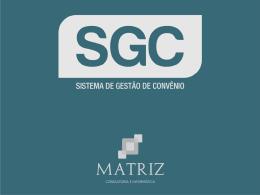 SGC - Sistema de Gestão de Convênios