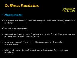 O Bloco Econômico?