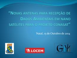 Novas antenas para recepção de Dados Ambientais em nano
