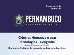 O processo histórico da ocupação do território brasileiro