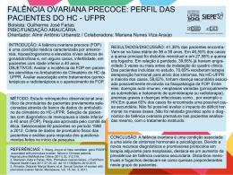 falência ovariana precoce - PRPPG