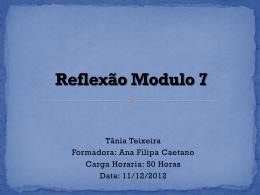 Reflexão Modulo 7.