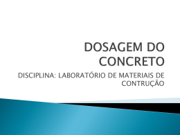 DOSAGEM DO CONCRETO