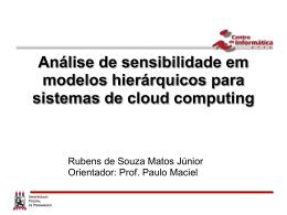 Análise de Sensibilidade em Modelos Hierárquicos para Sistemas