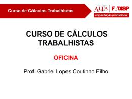 Curso de Cálculos Trabalhistas 1.