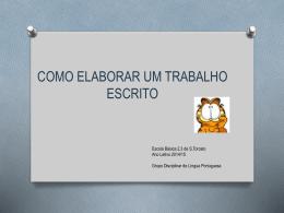 Elaborar um trabalho escrito - Língua Portuguesa