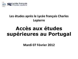 Provas de Ingresso - Lycée français Charles Lepierre