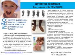 Orientações - Ortopedia Pediátrica por Luanne Lisle