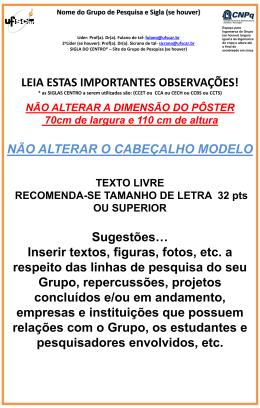 SIGLA DO CENTRO* – Site do Grupo de Pesquisa (se houver)