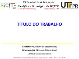 Modelo de Apresentação Oral (Formato PPT)