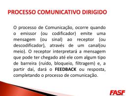 processo comunicativo dirigido feedback