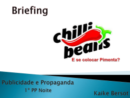 Chilli Beans - Blogs Unasp