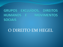 Hegel - Moodle USP do Stoa