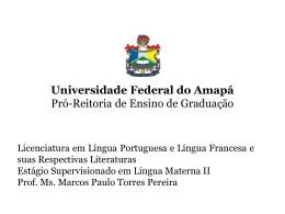 Estágio Supervisionado em Língua Materna II. Apres. 2
