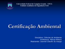 Certificação Ambiental - Universidade Federal de Campina Grande