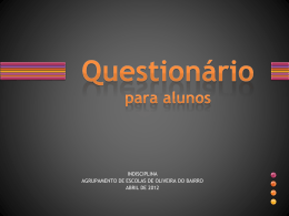 Questionário para alunos