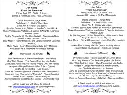 Jim Falbo Guitar Recital Sunday, July 21st 3 pm Joaquin Malats