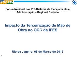 Impacto da Terceirização na OCC - Unifal-MG