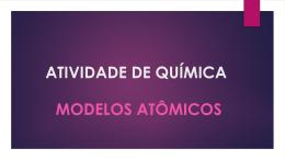 atividade de química modelos atômicos