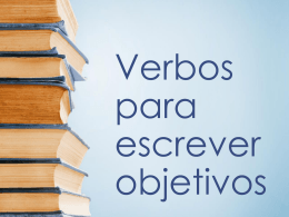 Verbos para escrever objetivos