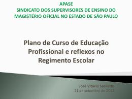 Plano de Curso de Educação Profissional e reflexos no