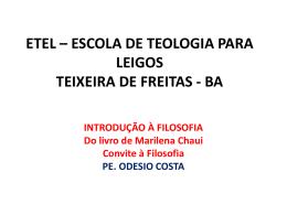 ESCOLA DE TEOLOGIA PARA LEIGOS Padre Odesio