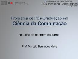 Programa de Pós-Graduação em Ciência da Computação
