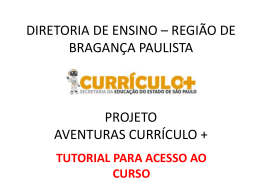 TUTORIAL AVENTURAS CURRICULO MAIS