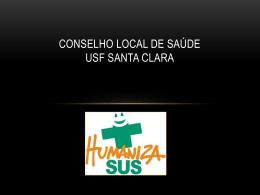 Conselho Local de Saúde USF SANTA CLARA