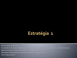 Princípios da estratégia - Universidade de Brasília