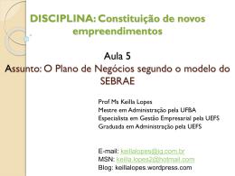 DISCIPLINA: Constituição de novos - Keilla Lopes