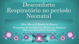 Desconforto respiratório imediato no período neonatal