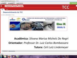 Uso de tecnologias - Desenvolvimento do TCC