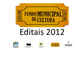 editais municipais para a área da cultura