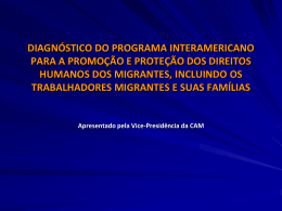 DIAGNÓSTICO DO PROGRAMA INTERAMERICANO PARA A