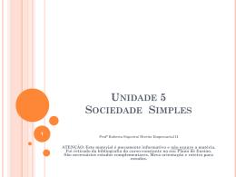Unidade 5 Sociedade Simples