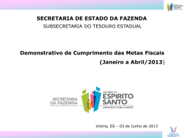 orçada x realizada - 2013 - Espírito Santo