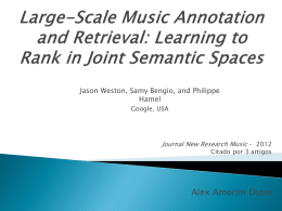 Large-Scale Music Annotation and Retrieval - DECOM-UFOP